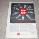 RCA Tube Ad,1960,34gd5,60fx5,50k5,18fx6,20eq7 Rare,1 pg