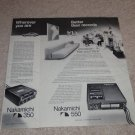 Nakamichi 550,350 Portable Cassette Ad,1977,article