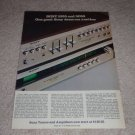 Sony 1055,5000 Amp/Tuner Ad,1973,Article,color, Nice!