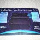 MFSL UltrAmp Ad from 1992, 2 pgs,Pre,D/A,Power RARE!