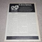 "Revox A77 Open Reel ""love letter"" Ad,1973, Excellent"