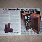 Marantz 940 Speaker Ad,1978, 2 pgs, Article,Beautiful!