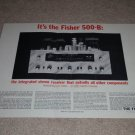 Fisher 4 page Ad,1962,500-B,Specs,Color,Ultra RARE!
