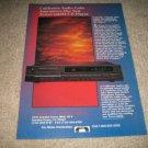 California Audio Labs Tercet mk III Cd Player Ad fr1989