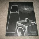 Epicure 3.0 Series II Speaker Ad from 1978