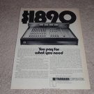 Tascam Model 10 Mixing Board Ad, Article, Picture, 1973