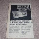 """Phase Linear 400 Amplifier Ad,Article,specs,6""""x9"""""""
