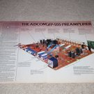 Adcom GFP-555 Preamp Ad,4 pgs,1987,Specs, Inside View