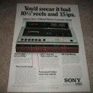 Sony 3 head Cassette Deck Ad from 1975,rare and color!