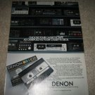 Denon Tape ad ,Nakamichi Dragon in ad fr1985,many decks