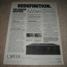 CARVER Receiver Ad from 1987, RARE!