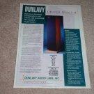 Dunlavy SC-VI,V,IV Speaker AD from 1997, reviews,articl