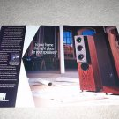 KEF Speaker Ad from 1993, 2 pages, high end! uni-Q