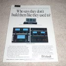 McIntosh MC1000,MC7300,7150,7100,7106 Amp Ad from 1992