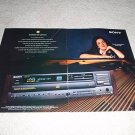 Sony ES CD Player Ad from 1993,CDP-C801es, 2 pages
