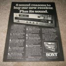 Sony STR-6800SD Receiver AD from 1977, 8 reasons to buy