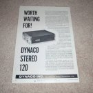 Dynaco Stereo 120 Amplifier Ad, 1966, Article, Specs