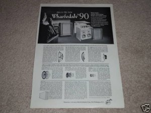 Wharfedale w90 Speaker Ad, 1963,specs,huge article,RARE