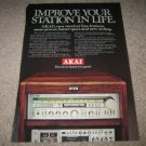 Akai System Vintage AD from 1982