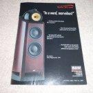 B&W Nautilus 800 Series Speaker Ad from 1999, very rare