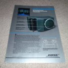 Bose 201 Speaker AD from 1982, color, specs, nice! RARE
