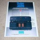 Sansui C-2102 Preamp,B-2102 Amplifier Ad,1985,Article