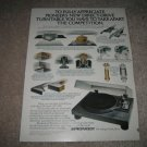 Pioneer Turntable PL-518 Vintage AD from 1978