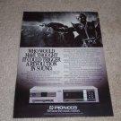 Pioneer P-D70 CD Player Ad,1984,Beautiful,article,RARE!