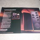 Polk SDA SRS 1.2,2.3 Speaker Ad from 1988,AMAZING! 2 pg