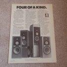 AR Vertical Speaker Ad from 1979,AR9,AR92,AR91,AR90
