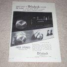 McIntosh MX110 Receiver Ad, 1966, Rare Ad!