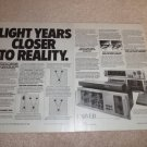Carver Ad,4000t,C-9,C-1,Receiver 2000,Sonic Holog,2 pgs