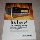 Bose 1801 Amplifier Ad,ready for framing! 1973, mint!