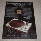 Technics SL-1400 Turntable Ad,Article,Specs,1976, RARE!