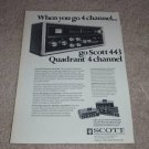Scott QUAD Receiver Ad,443,specs,article, Entire Line
