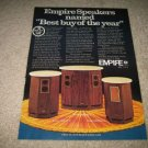 Empire 9500 M II,7500 M II,6000 MII Speaker Ad fr 1974