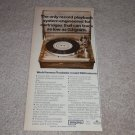 "Empire 990 Turntable Ad, 1975, Article, Rare Ad! 6""x11"""