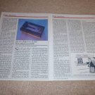 Nitty Gritty 2.5fi Record Cleaner Review,1985,2 pgs