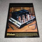 McIntosh 275 Tube Amp Ad from 1998, RARE! AMAZING!