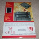 QUAD Esl-63 Speaker,67 CD,306,606 Amp Ad,1995,Article