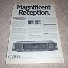 Carver TX-11a Tuner Ad from 1988,Article,Rare!