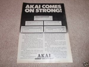 Akai 1000 Series Receivers Ad from 1974,1080,1070,QUAD!