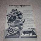 Thorens TD-125AB Mk II Ad,1975,Article, Nice Ad!