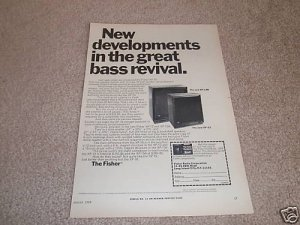 Fisher XP-15b,XP-12 Speaker Ad from 1969, Nice!