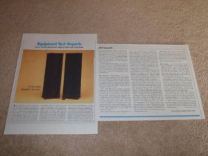 DCM QED Reference Speaker Review,1983,2 pgs,Full Test