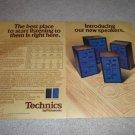 Technics T-500,400,300,200 Speaker AD from 1974,specs