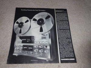 Tandberg TD 20 A Open Reel Ad,1978, Specs,Article