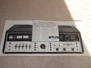Fisher 504 QUAD Receiver Ad,4 pgs,Specs, HUGE! Article