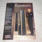 Martin Logan SL 3 Speaker Ad, 1995, Article