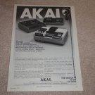 Akai GXC-65D,46d Cassette Ad, 1972,Rare AD! Article